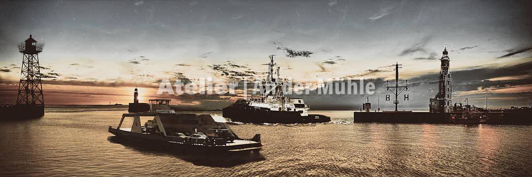 Fotografie Kompositionen Bremerhaven Hafeneinfahrt © 2017 Adrian J.-G. Wackernah - 000665