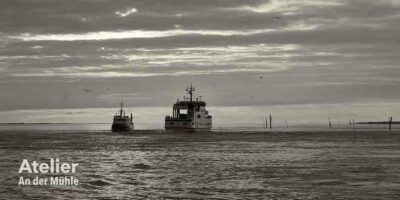 Begegnung zweier Fähren