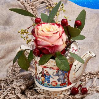 Teeblumen Kanne mit Rose © 2016 Ilona Weinhold-Wackernah - 000773