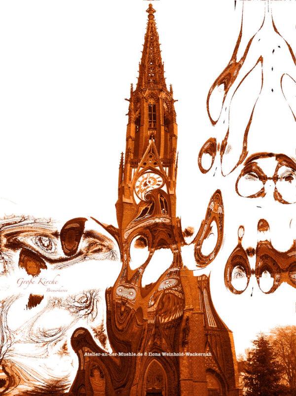 Verzerrtes Große Kirche Bremerhaven © 2012 Ilona Weinhold-Wackernah - 000785