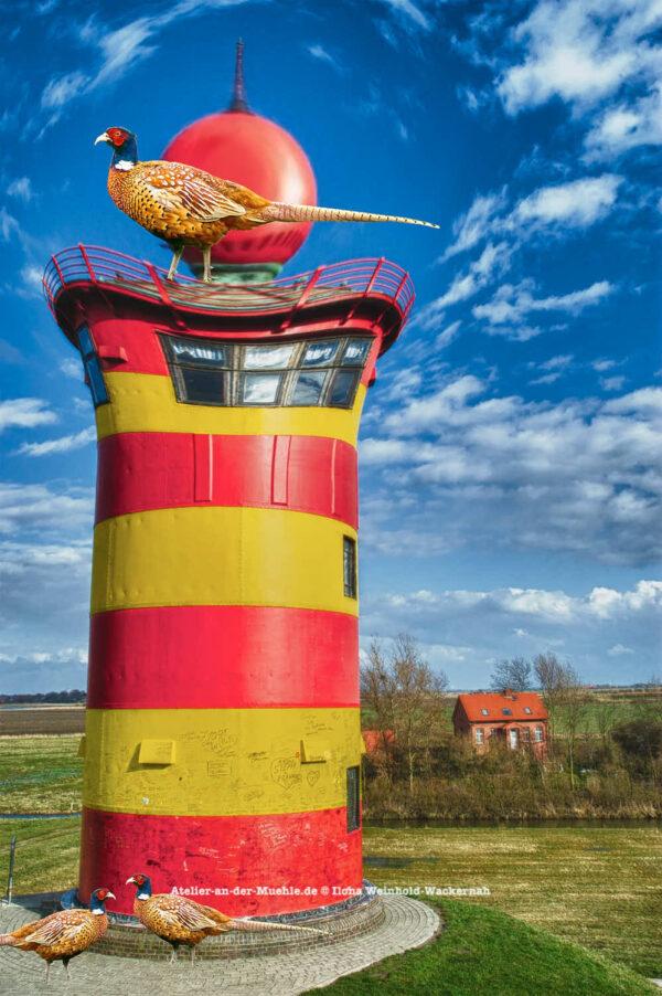 Verzerrtes Pilsum Leuchtturm © 2006 Ilona Weinhold-Wackernah - 000390