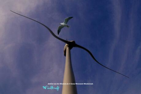 Verzerrtes Windrad mit Möwe © 2011 Ilona Weinhold-Wackernah - 000794