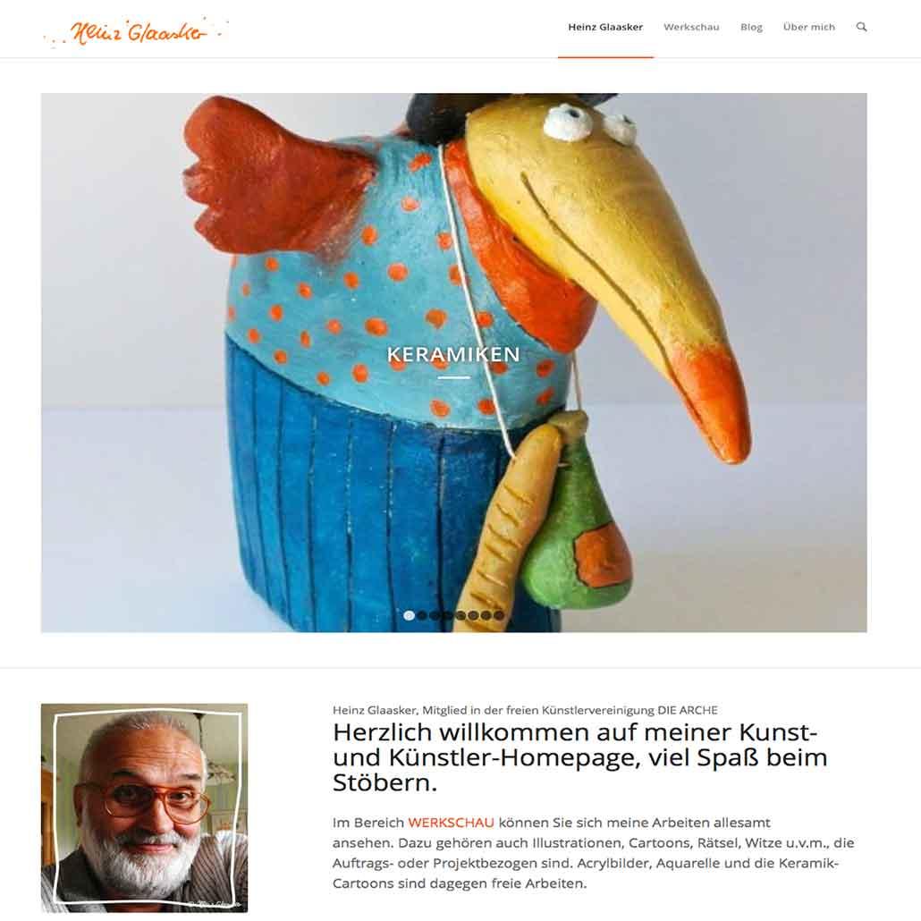 Homepage Heinz Glaasker https://glaasker.de