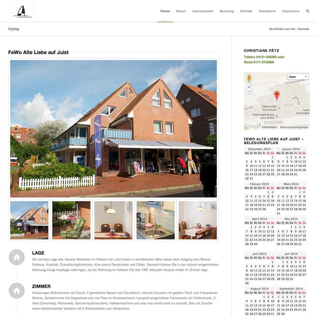 Homepage Christiane Pätz https://fewo-alte-liebe-juist.de