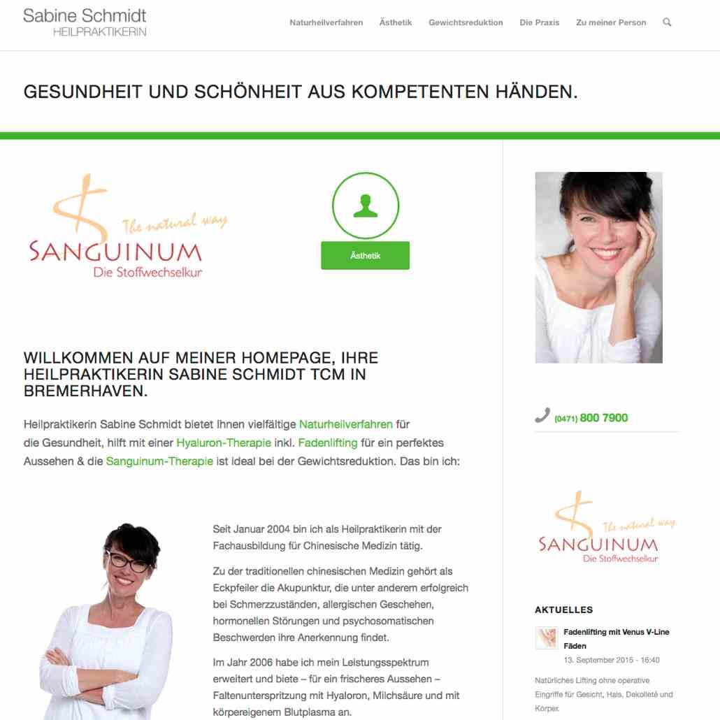 Homepage Sabine Schmidt https://sabine-schmidt-tcm.de