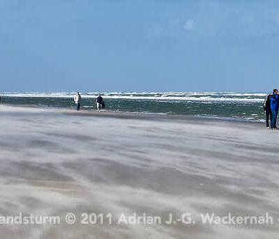 Juist Strandsturm © 2011 Adrian J.-G. Wackernah - 000673