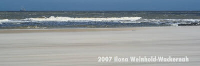 Fotografie Wangerooge Sandsturm am Strand © 2007 Ilona Weinhold-Wackernah