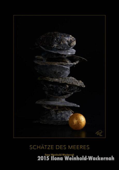 Postkarte Kunst Goldene Kugel © 2015 Ilona Weinhold-Wackernah