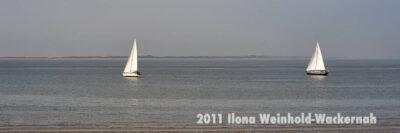 Fotografie Norderney Zwei Segelboote © 2011 Ilona Weinhold-Wackernah