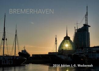 Postkarte Bremerhaven Alter Hafen Mediterraneo © 2014 Adrian J.-G. Wackernah