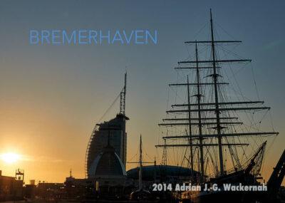 Postkarte Bremerhaven Alter Hafen Seute Deern © 2014 Adrian J.-G. Wackernah