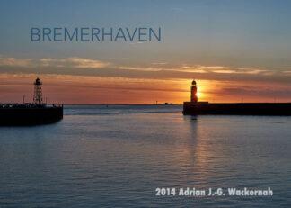 Postkarte Bremerhaven Leuchttürme Geestemole © 2014 Adrian J.-G. Wackernah