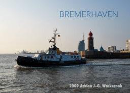 Postkarte Bremerhaven Lotse vor Geestemole © 2009 Adrian J.-G. Wackernah
