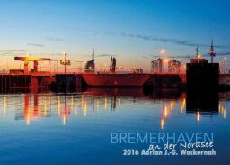 Postkarte Bremerhaven Doppelschleuse Fischereihafen © 2016 Adrian J.-G. Wackernah