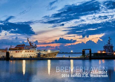 Postkarte Bremerhaven Fair Lady Bremerhaven-Helgoland © 2016 Adrian J.-G. Wackernah
