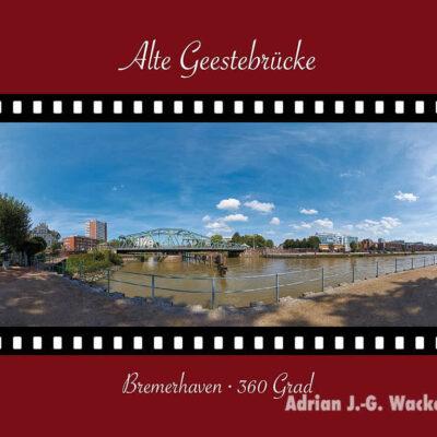 Postkarte Bremerhaven Alte Geestebrücke © 2015 Adrian J.-G. Wackernah