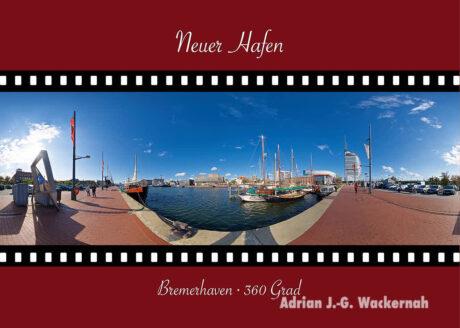Postkarte Bremerhaven Neuer Hafen © Adrian J.-G. Wackernah