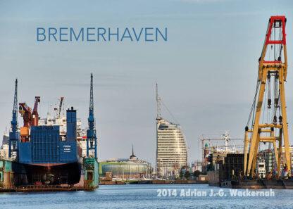Postkarte Bremerhaven MWB Dock & Hotel © 2014 Adrian J.-G. Wackernah