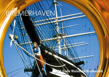 Postkarte Bremerhaven Seute Deern im Bullauge © 2008 Ilona Weinhold-Wackernah