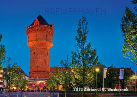 Postkarte Bremerhaven Wasserturm Geestemünde © 2012 Adrian J.-G. Wackernah