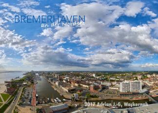 Postkarte Bremerhaven Blick nach Norden © 2017 Adrian J.-G. Wackernah