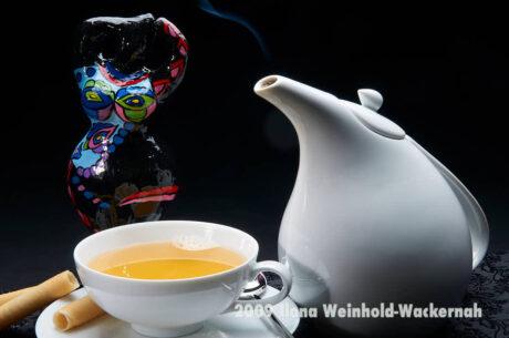 Fotografie Tee-Genuss Blanc mit Nana 1 © 2009 Ilona Weinhold-Wackernah