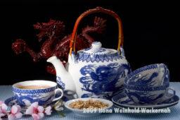 Fotografie Tee-Genuss China blau mit Drache © 2009 Ilona Weinhold-Wackernah