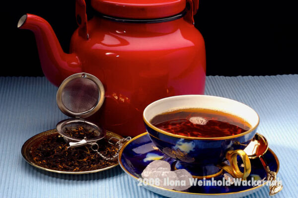 Fotografie Tee-Genuss Goldblau © 2008 Ilona Weinhold-Wackernah