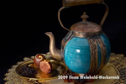 Fotografie Tee-Genuss Kupfer Türkis © 2009 Ilona Weinhold-Wackernah