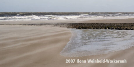 Fotografie Wangerooge Sandsturm © 2007 Ilona Weinhold-Wackernah