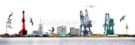 Fotografie Kompositionen Bremerhaven Skyline © 2018 Adrian J.-G. Wackernah - 001004