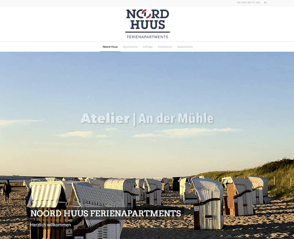 Homepage Noord Huus Cuxhaven Screenshot
