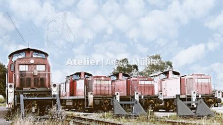 Fotografie Kompositionen Bremerhaven Lokomotiven © 2018 Adrian J.-G. Wackernah - 001040