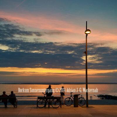 Fotografie Borkum Sonnenuntergang © 2014 Adrian J.-G. Wackernah - 001106