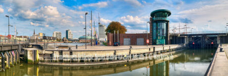 Fotografie Bremerhaven Schleuse Neuer Hafen © 2014 Adrian J.-G. Wackernah - 001067