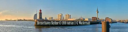 Produktbild Bremerhaven Skyline © 2018 Adrian J.-G. Wackernah - 001053