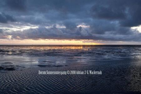 Fotografie Dorum Sonnenuntergang © 2008 Adrian J.-G. Wackernah - 000968