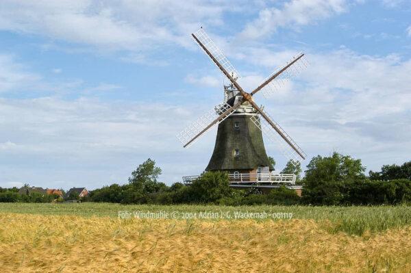 Fotografie Föhr Windmühle © 2004 Adrian J.-G. Wackernah - 001119