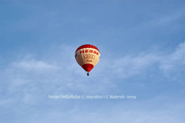 Fotografie Frelsdorf Heißluftballon © 2009 Adrian J.-G. Wackernah - 001124