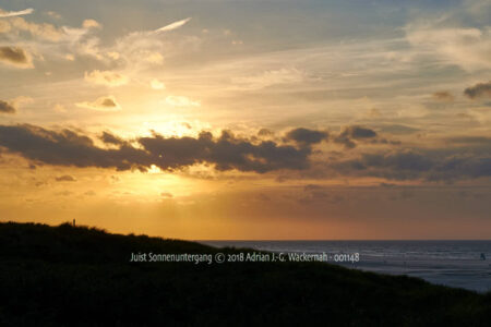 Fotografie Juist Sonnenuntergang © 2018 Adrian J.-G. Wackernah - 001148