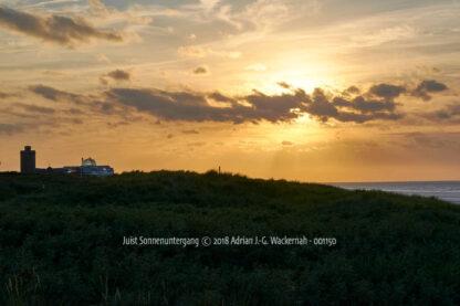 Fotografie Juist Sonnenuntergang © 2018 Adrian J.-G. Wackernah - 001150