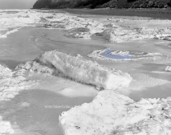 Fotografie Winter Ostsee-Eis blau 2 © 1985 Ilona Weinhold-Wackernah - 000911