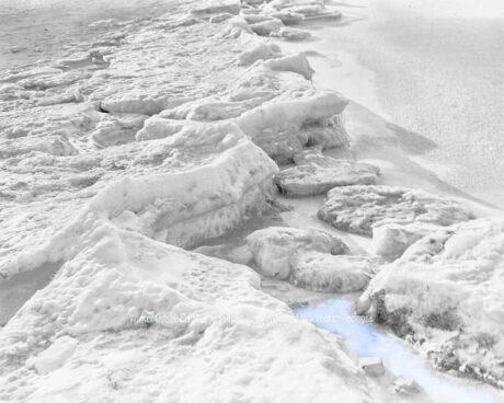 Fotografie Winter Ostsee-Eis blau 7 © 1985 Ilona Weinhold-Wackernah - 000914