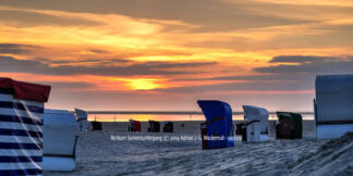 Produktbild Borkum Sonnenuntergang © 2014 Adrian J.-G. Wackernah - 001219