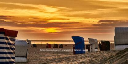 Produktbild Borkum Sonnenuntergang © 2014 Adrian J.-G. Wackernah - 001220