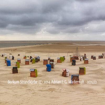Produktbild Borkum Strandkörbe © 2014 Adrian J.-G. Wackernah - 001222