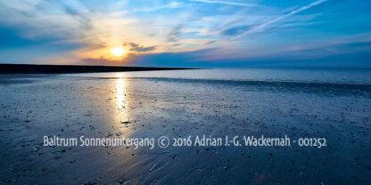 Produktbild Fotografie Baltrum Sonnenuntergang © 2016 Adrian J.-G. Wackernah - 001252