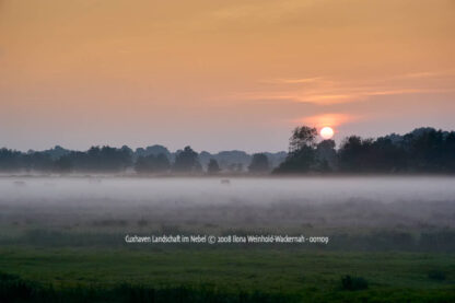 Produktbild Cuxhaven Landschaft im Nebel © 2008 Ilona Weinhold-Wackernah - 001109