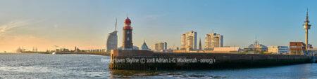 Produktbild Panoramafotografie Bremerhaven Skyline © 2018 Adrian J.-G. Wackernah - 001053 1