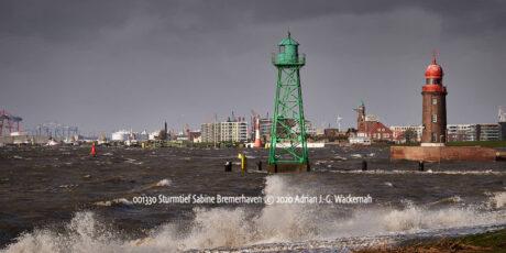Produktbild Fotografie Sturmtief Sabine Bremerhaven © 2020 Adrian J.-G. Wackernah